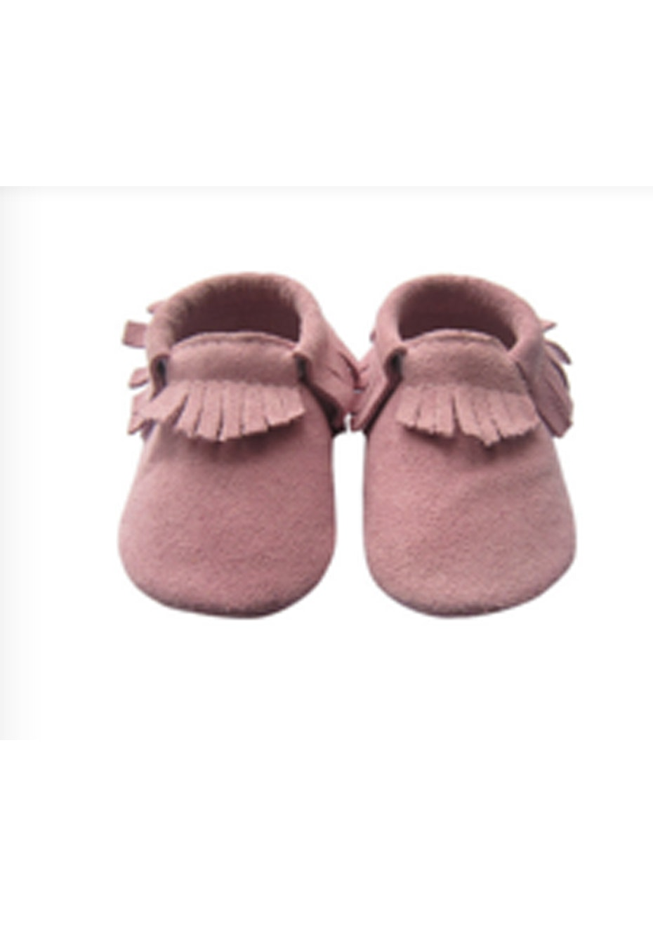 Baby  Leather Shoes - Dust Pink