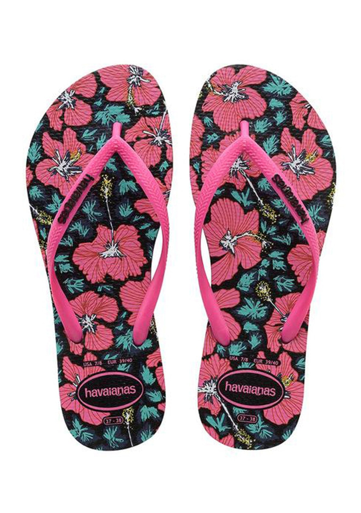 0913f5e1f353 Havaianas - Slim Floral 8906 Black Orchid Rose - Ipanema Havaianas  Clearance - Onceit