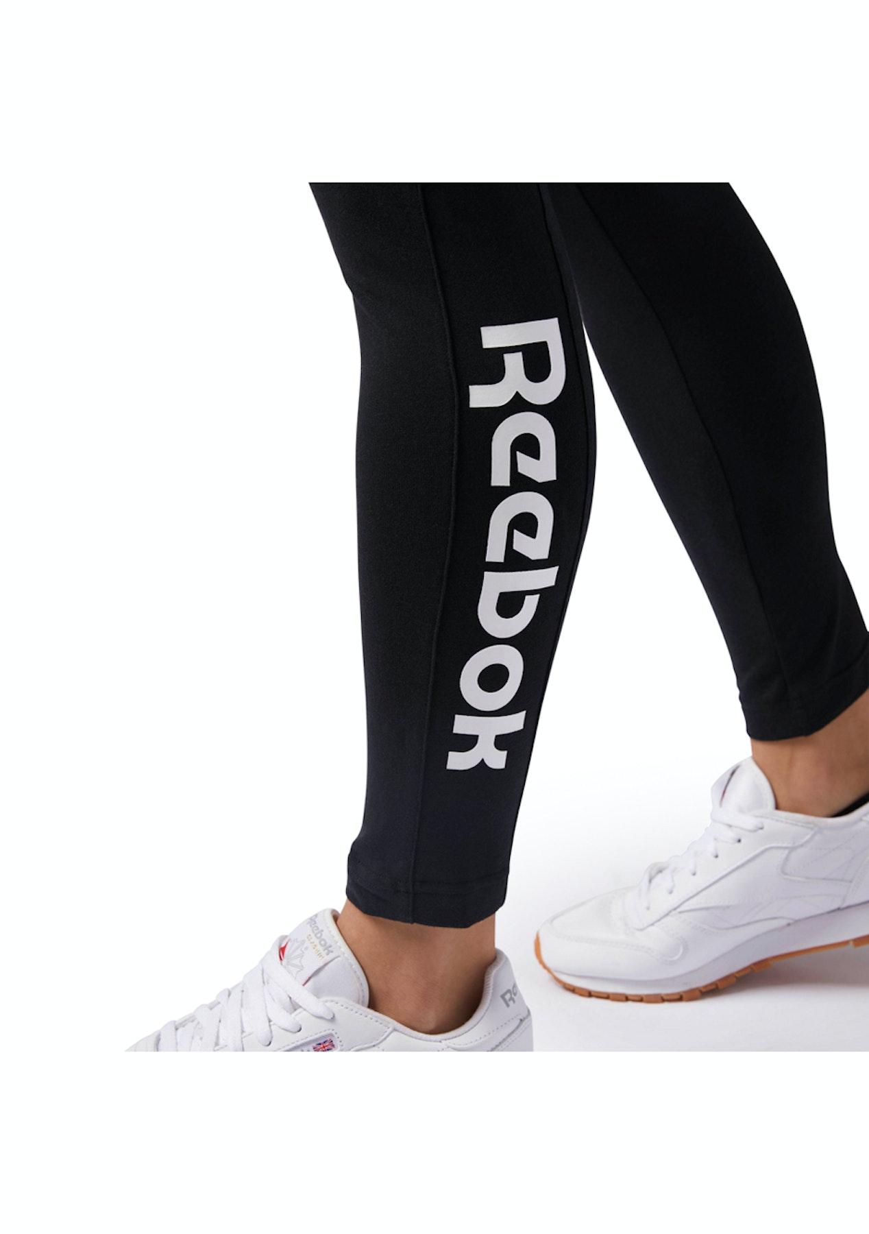 5712520cbeafc Reebok Womens - F Logo Legging - Black - Under Armour & More - Onceit