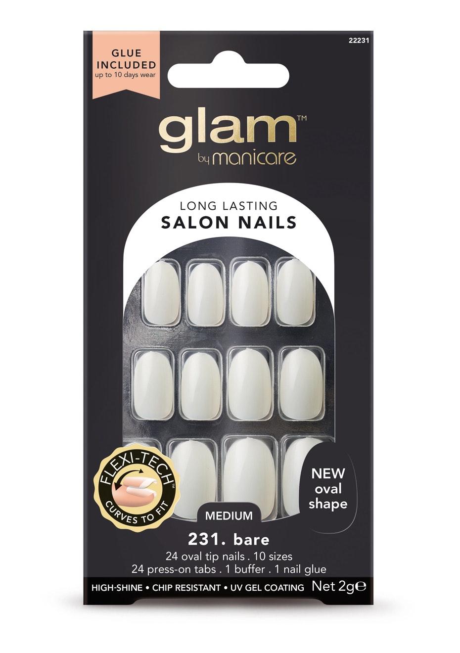 Manicare Glam  - Glue-On Nails Basic Oval 2G