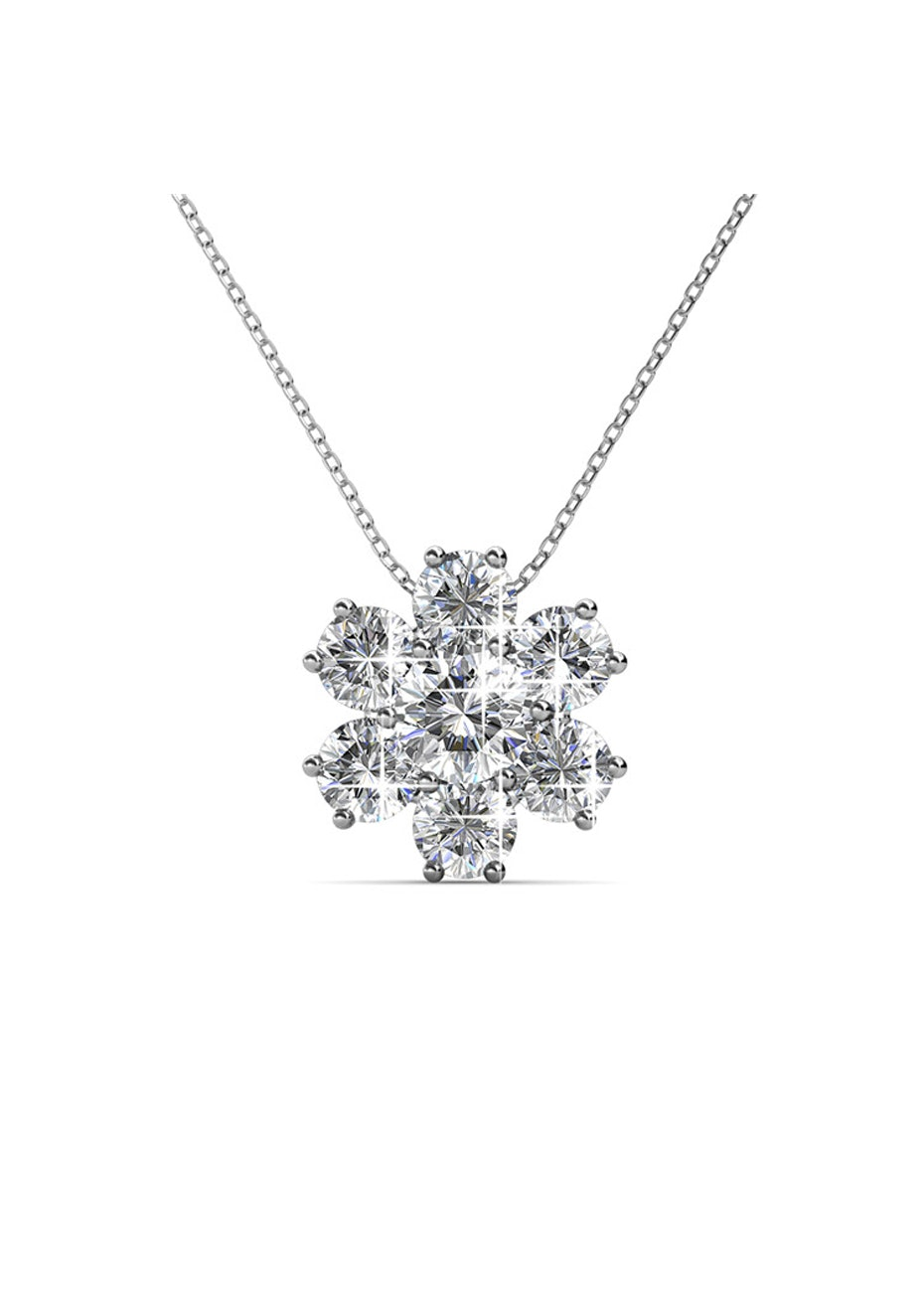 Ice Castle Pendant Necklace Embellished with Crystals from Swarovski