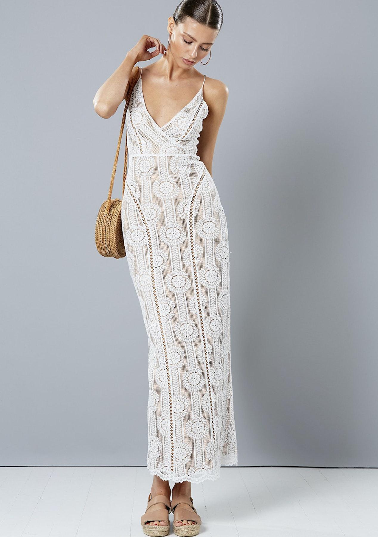 5de314d3c93 White Lace Maxi Dress Au - Data Dynamic AG