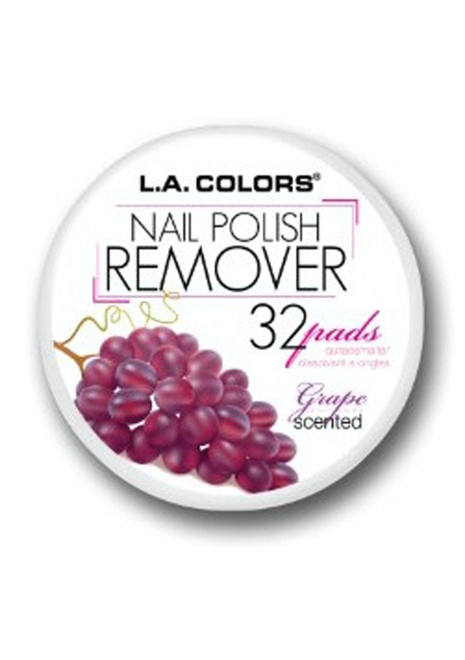 LA COLORS - Nail Polish Remover Pads  - Grape