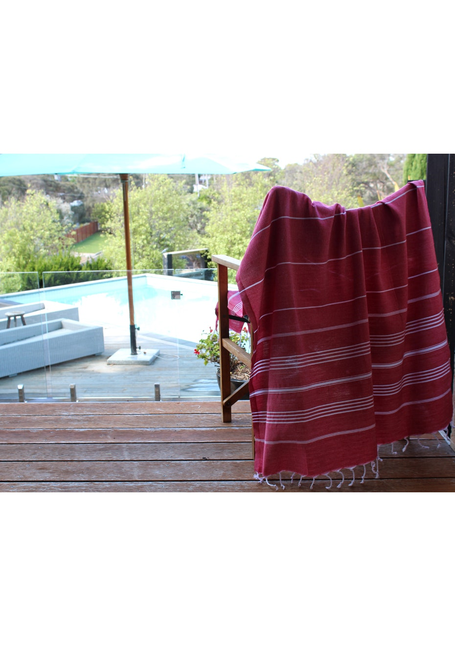 De La Mer Red Turkish Towel