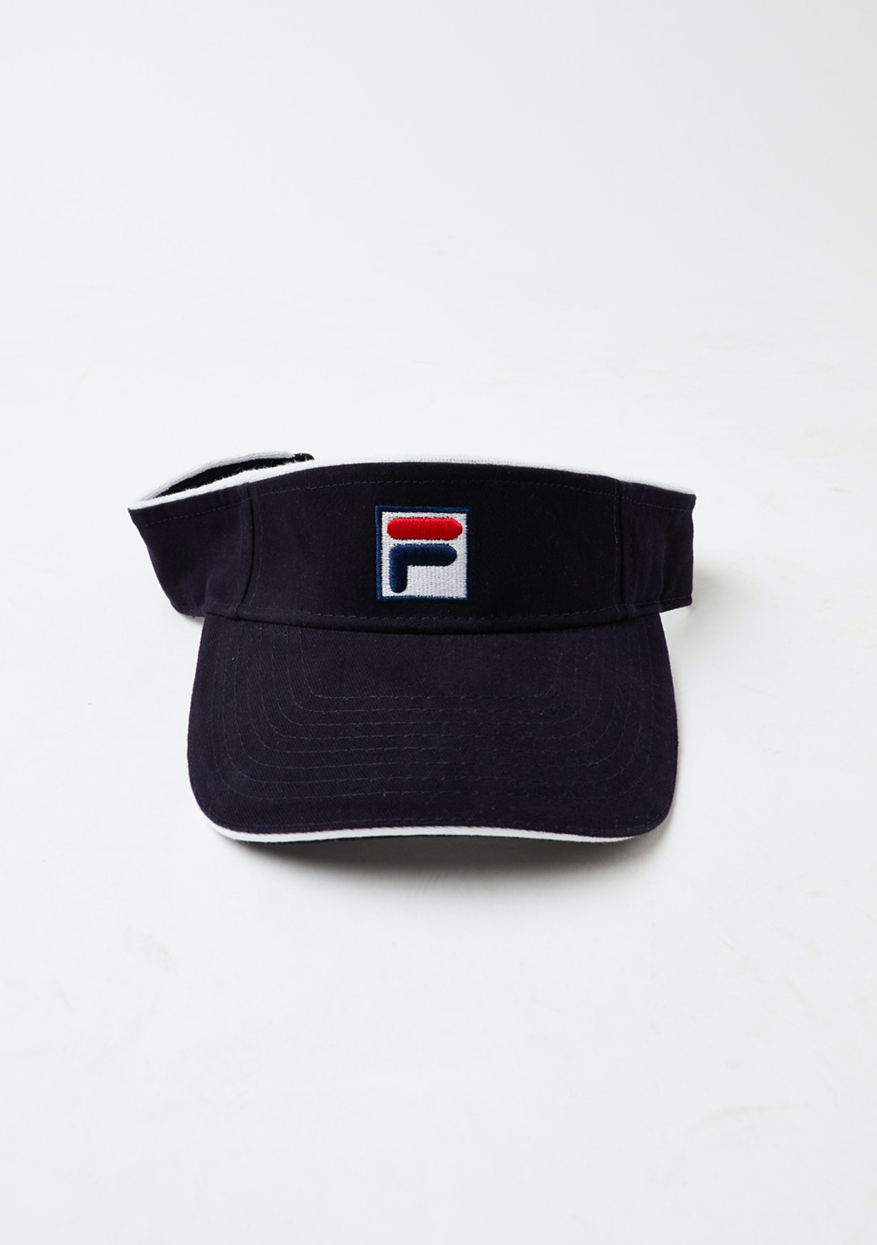 0c040c7a9f3e99 Fila Brushed Cotton Visor - Navy - Fila Summer - Mens and Womens Clearance  - Onceit