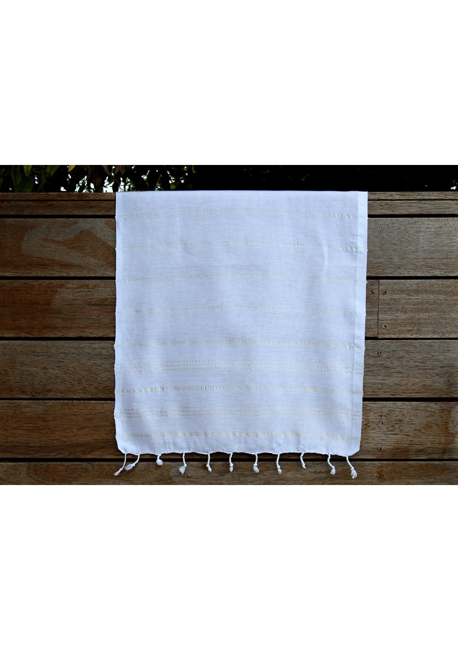 De La Mer White Small Turkish Towel