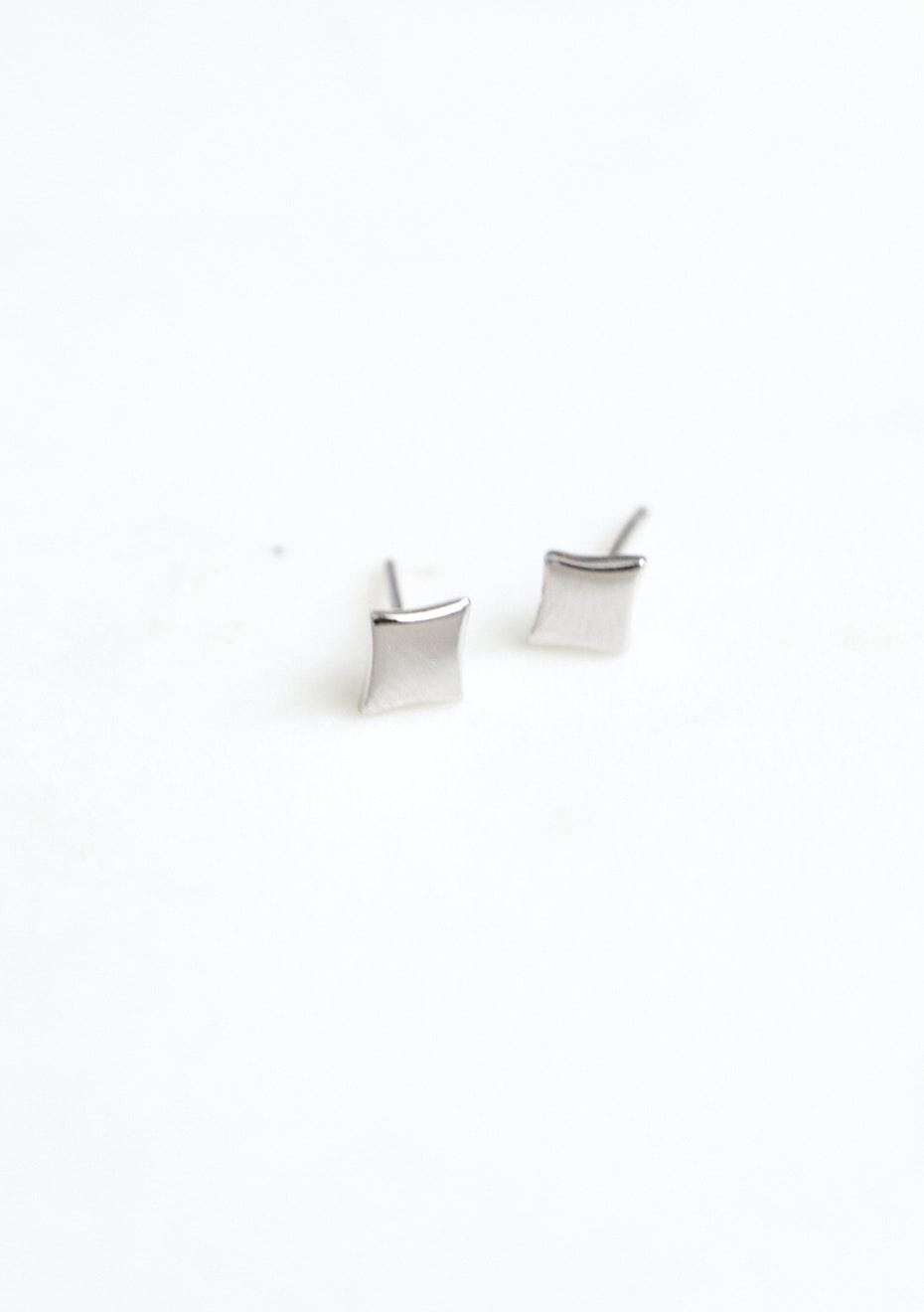 Square Stud  - 925 Silver