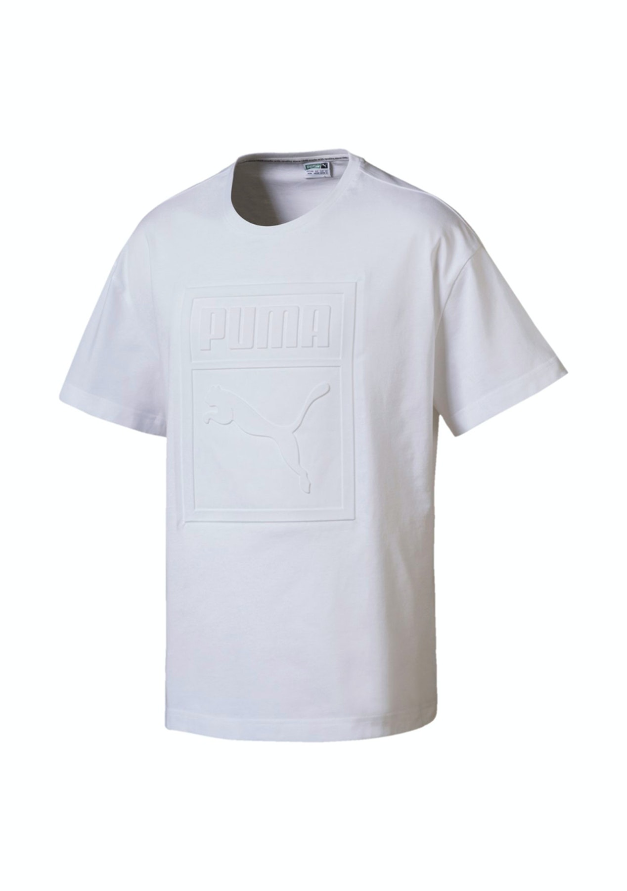 5c808c1dee6 Puma Mens - Archive Embossed Print Tee - White - PUMA Mens up to 63% Off -  Onceit