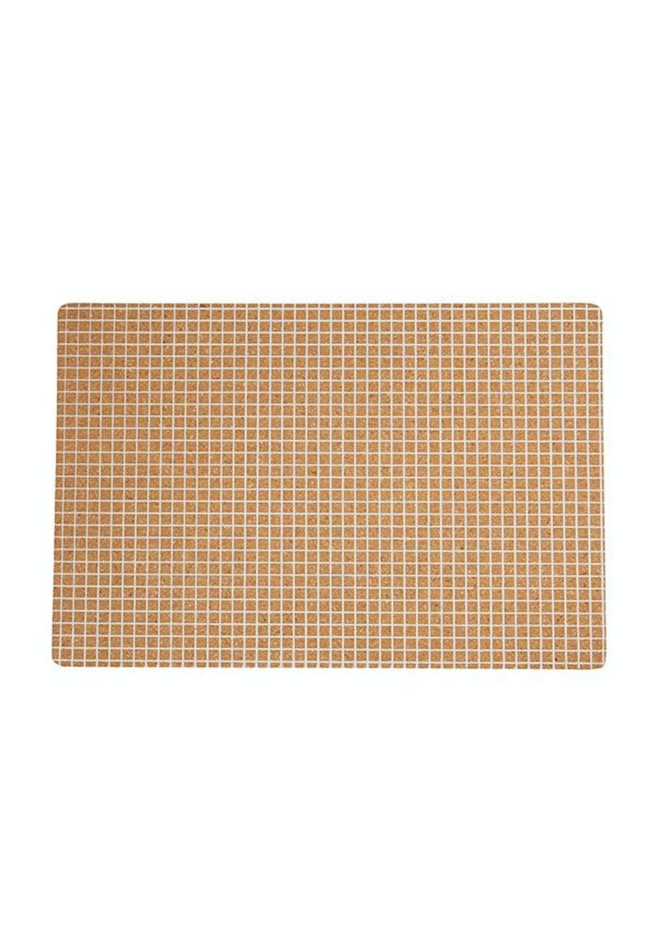 General Eclectic - Cork Placemat White Grid Set4