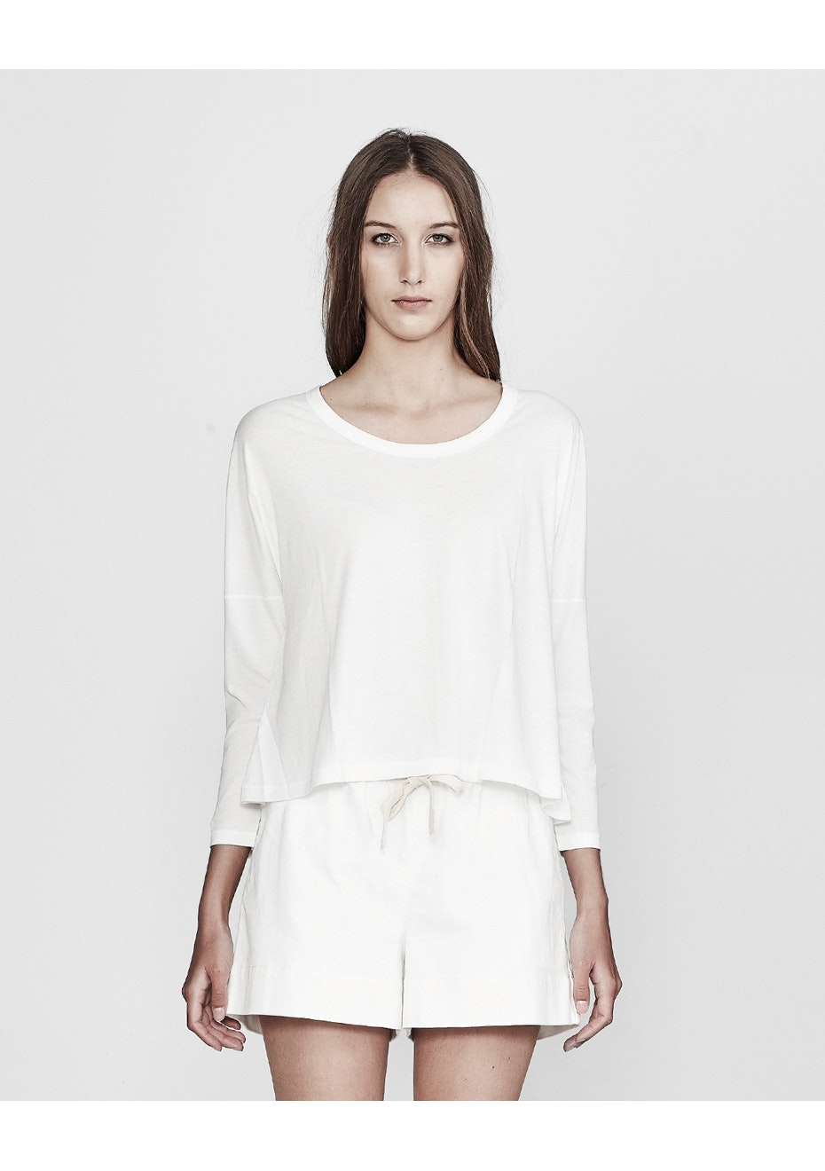 Commoners - Womens Boxy L/S Tee - Used White