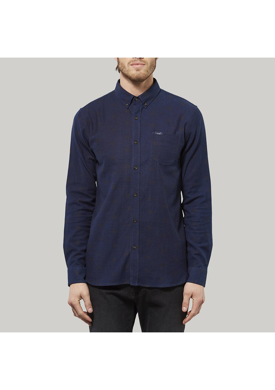 Lee - Mens - Straight Line Ls Shirt Origami Blue