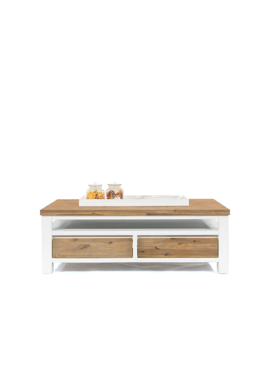 FbD - Urban Coffee Table - White and Acacia