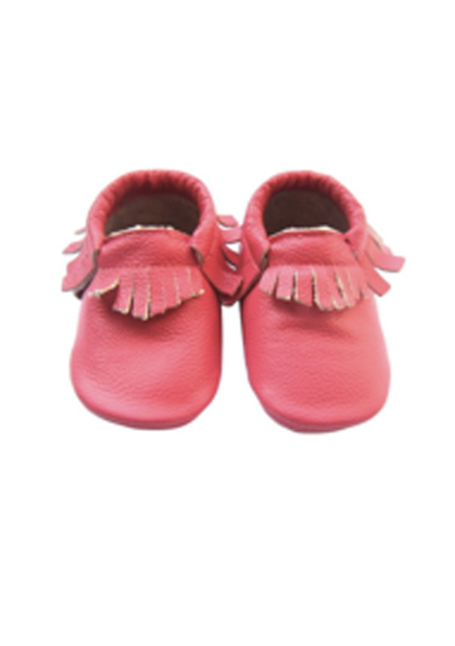 Baby  Leather Shoes - Light Coral
