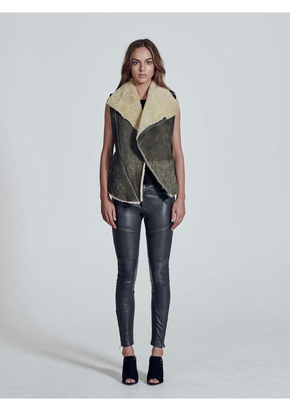 West 14th - Nolita Drape Vest - Distressed Grey