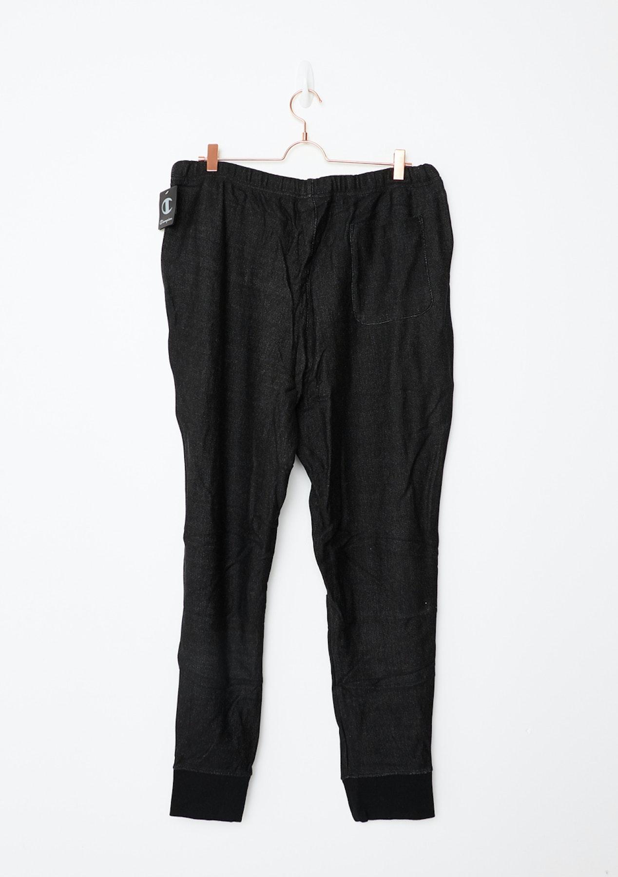 Champion Mens - Rev Weave Ft Pant - Black - Big Brand Mens Outlet - Onceit 3b7af441810b