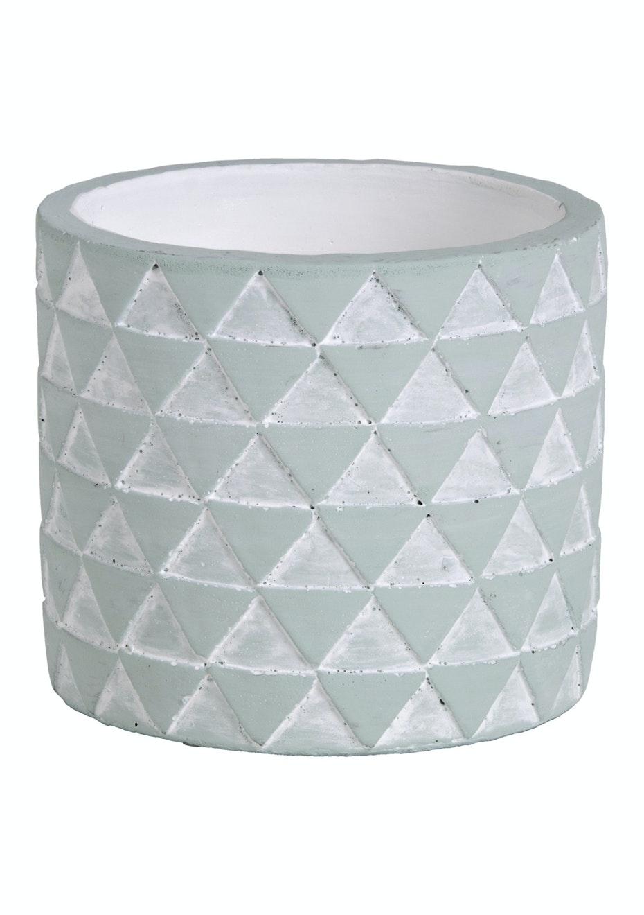 Jason - Concrete Triangles Planter - Mint
