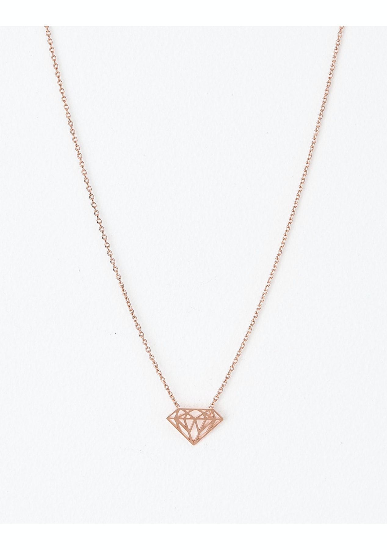 c739bf5eca7 Stella + Gemma - Necklace Diamond Rose Gold - Rose Gold - Free Shipping  Jewellery & More - Onceit