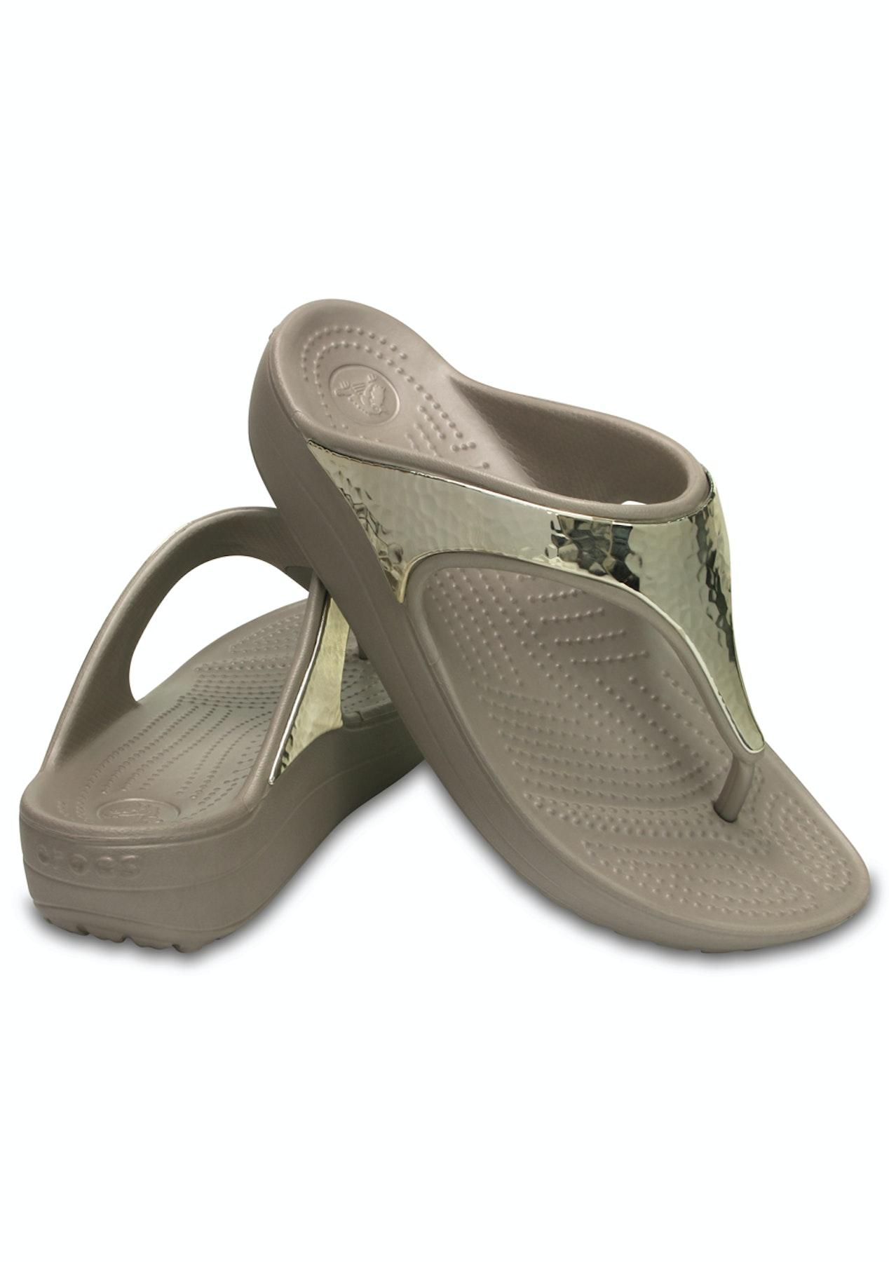 8531c14c39d9 CROCS - Womens Crocs Sloane Embellished Flip - Platinum - Crocs - Onceit