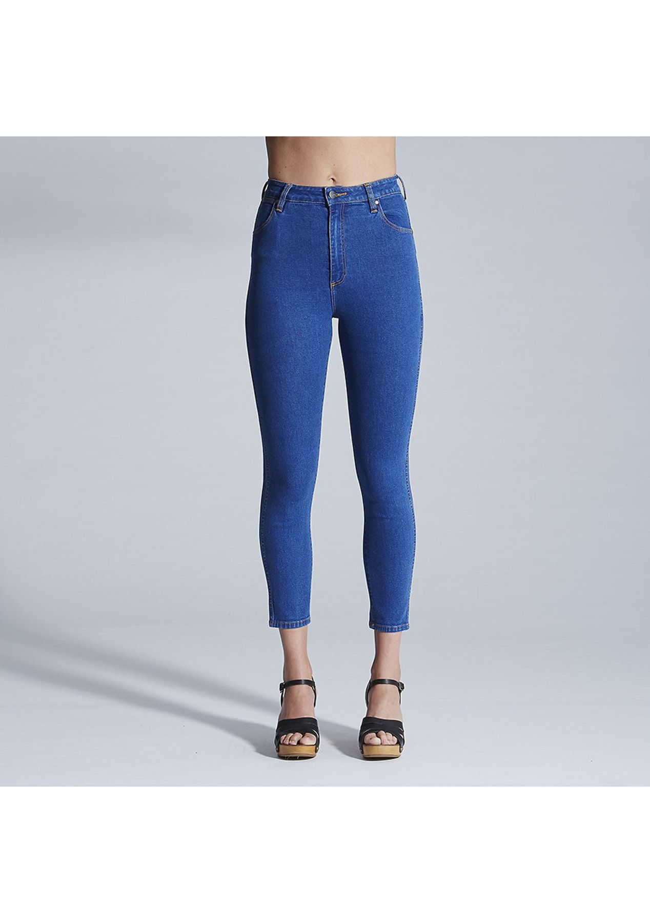 3957b4b790824e Wrangler Womens - Hi Pins Jean Cropped - Rizzo blue - Fashion from  1 -  Onceit