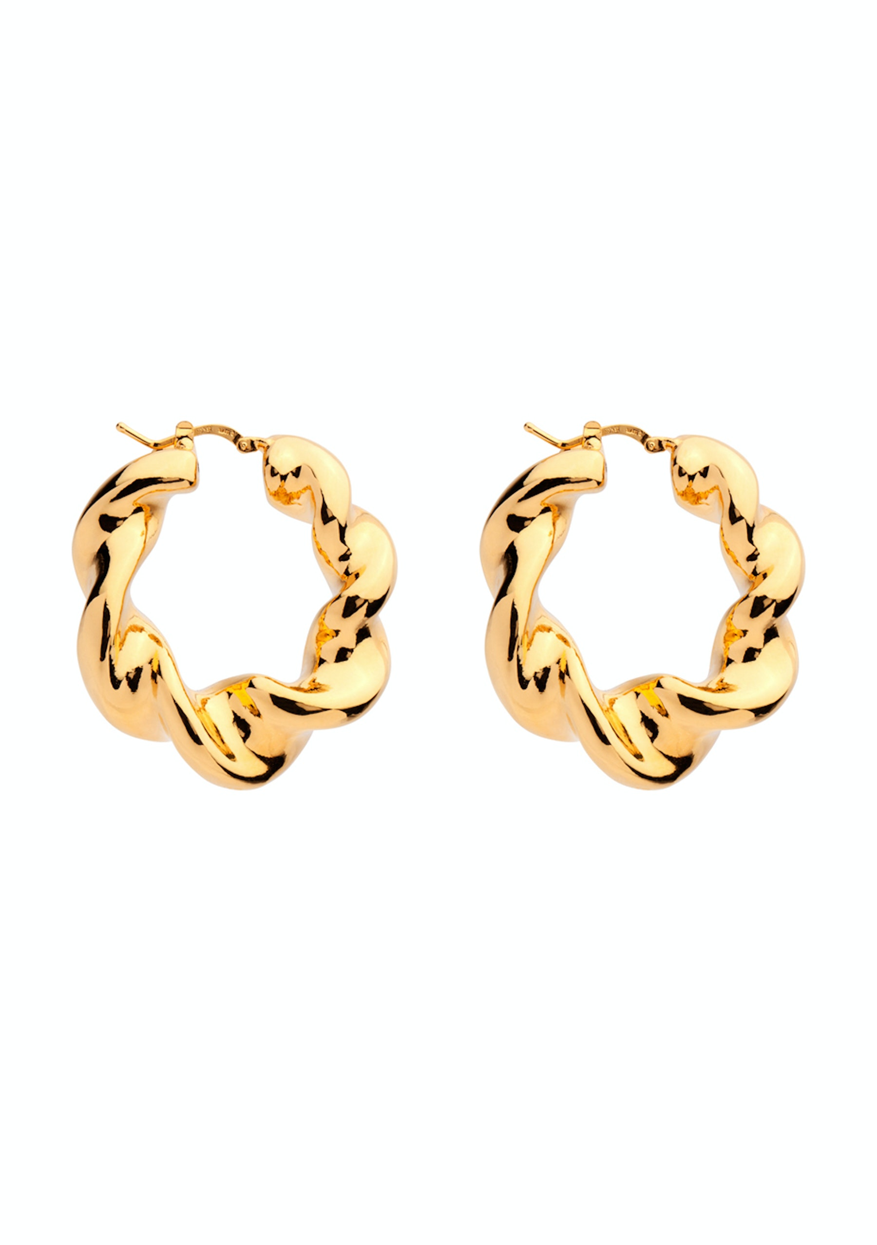 Amber Sceats Shani Gold Earrings Made In Italy Mega Designer