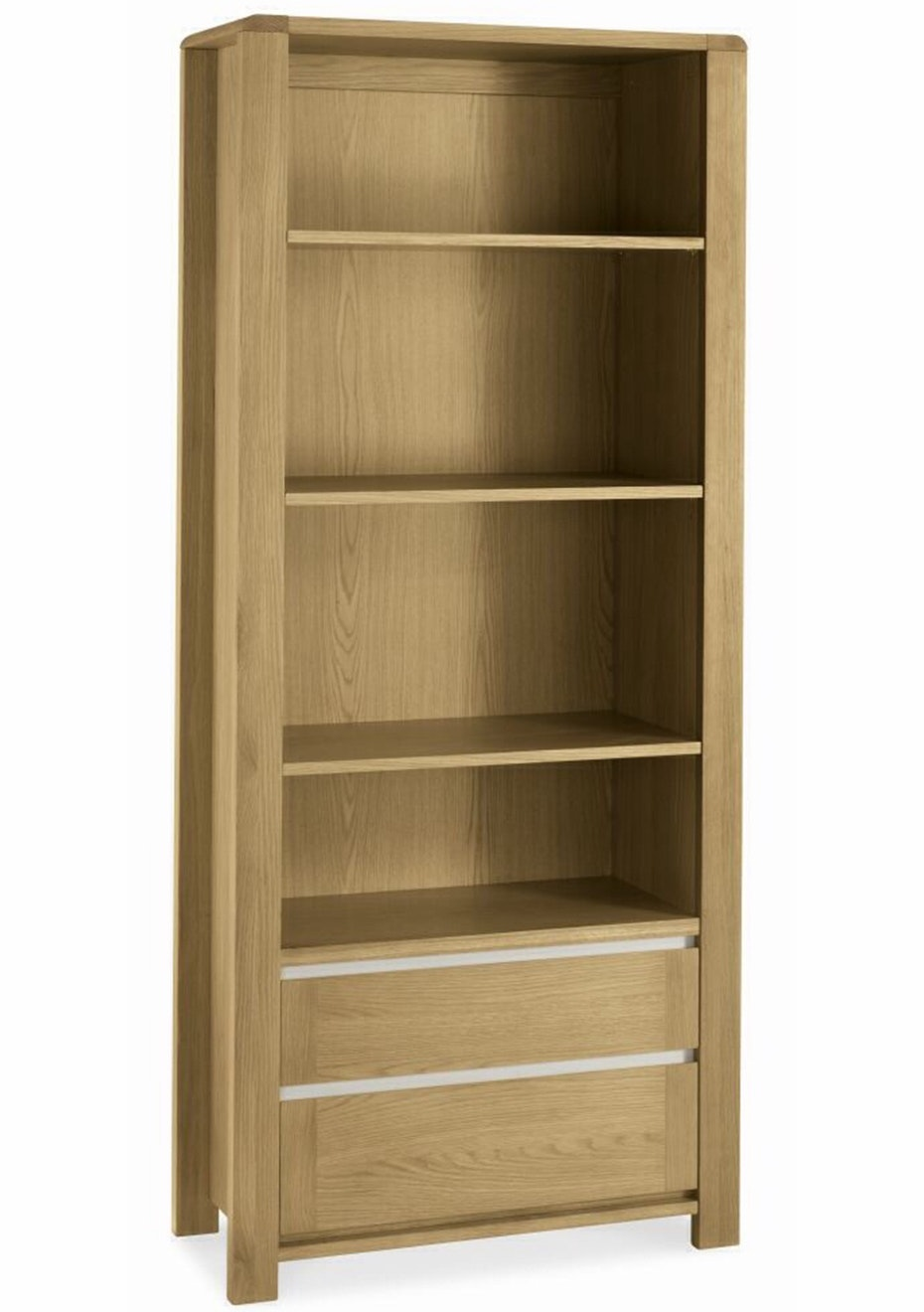 Furniture By Design - Casa Oak Wide Bookcase- Light Oak