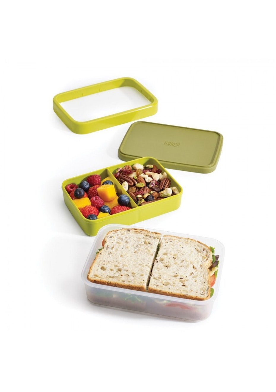 Joseph Joseph - GoEat Compact 2-in-1 lunch box - Green