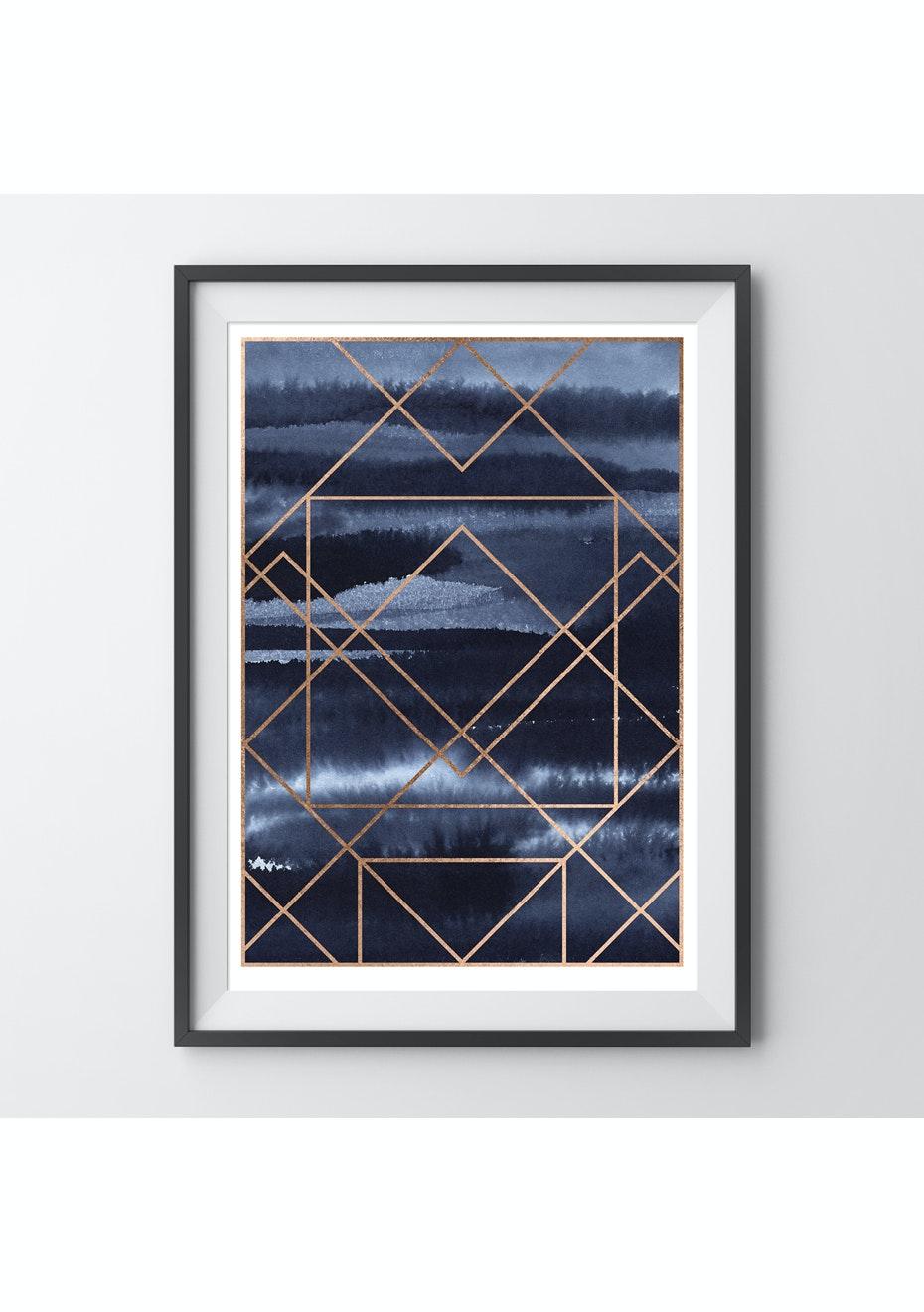Simply Creative - Amethyst - A3 Copper Foil Print