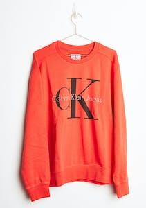 08bc7cdb493 Calvin Klein - Pop Colour Sweatshirt - Wild Orange