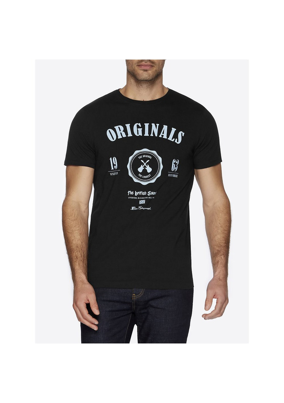 Ben Sherman - Varsity Graphic Tee Black