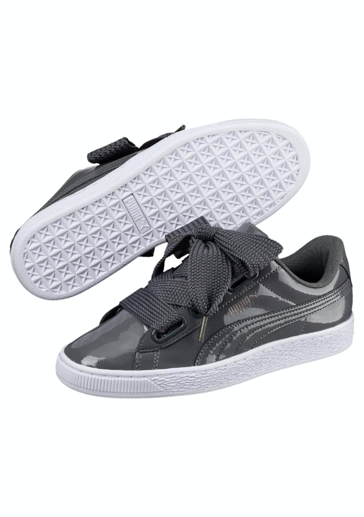 d0bb7da0c5fe Puma Womens - Basket Heart Patent - Iron - All Shoes  60 - Onceit