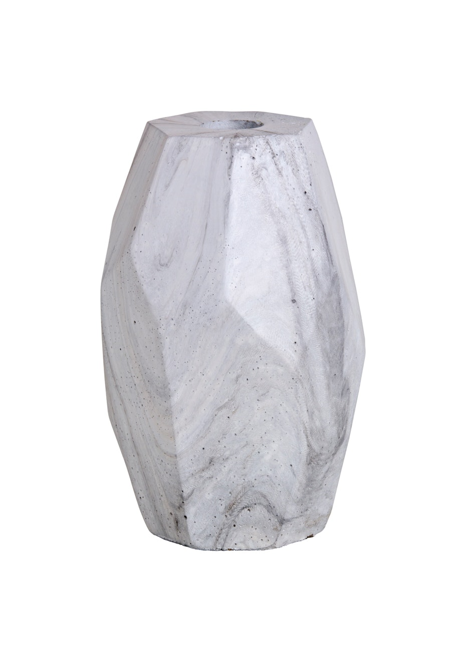 Concrete Tall Candle Holder - Marble