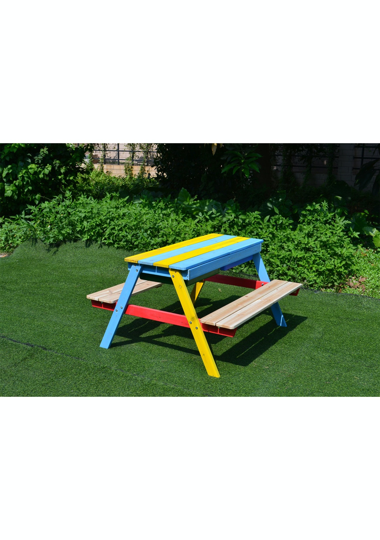 Astonishing Childrens Wooden Sandpit Bench With Basin Pabps2019 Chair Design Images Pabps2019Com
