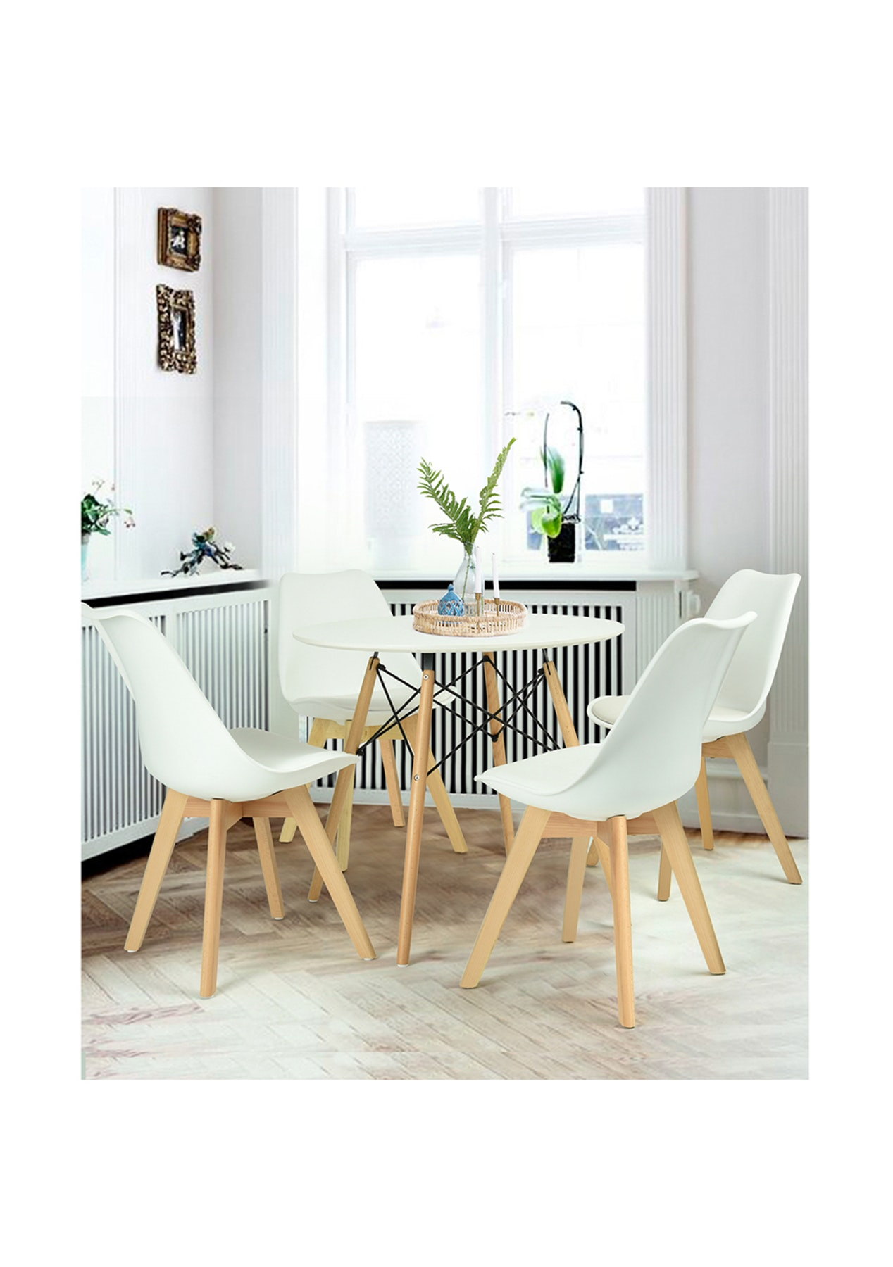 George st frankfurt dining room chair 4pc set white for M dining room frankfurt