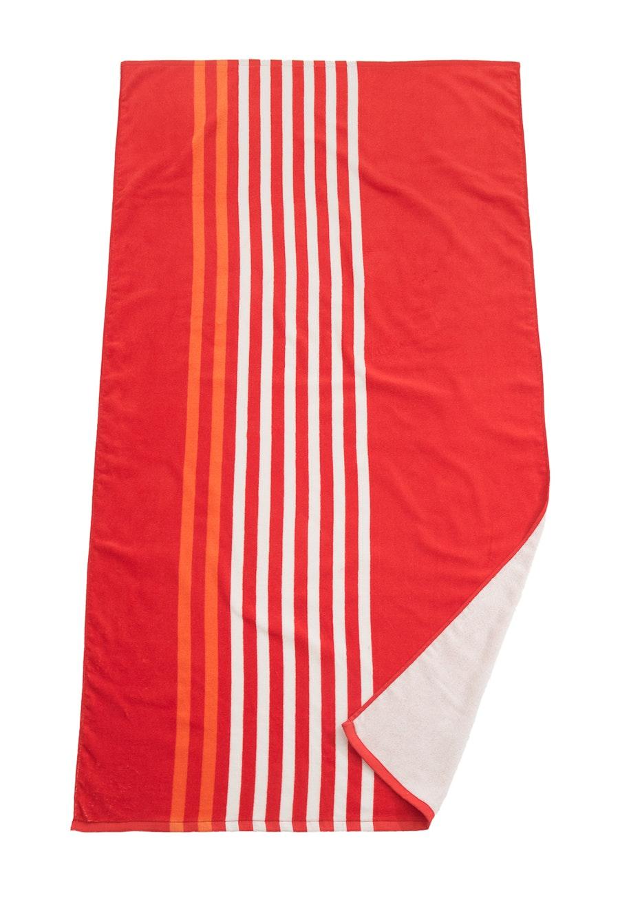 Portsea Printed Beach Towel Red