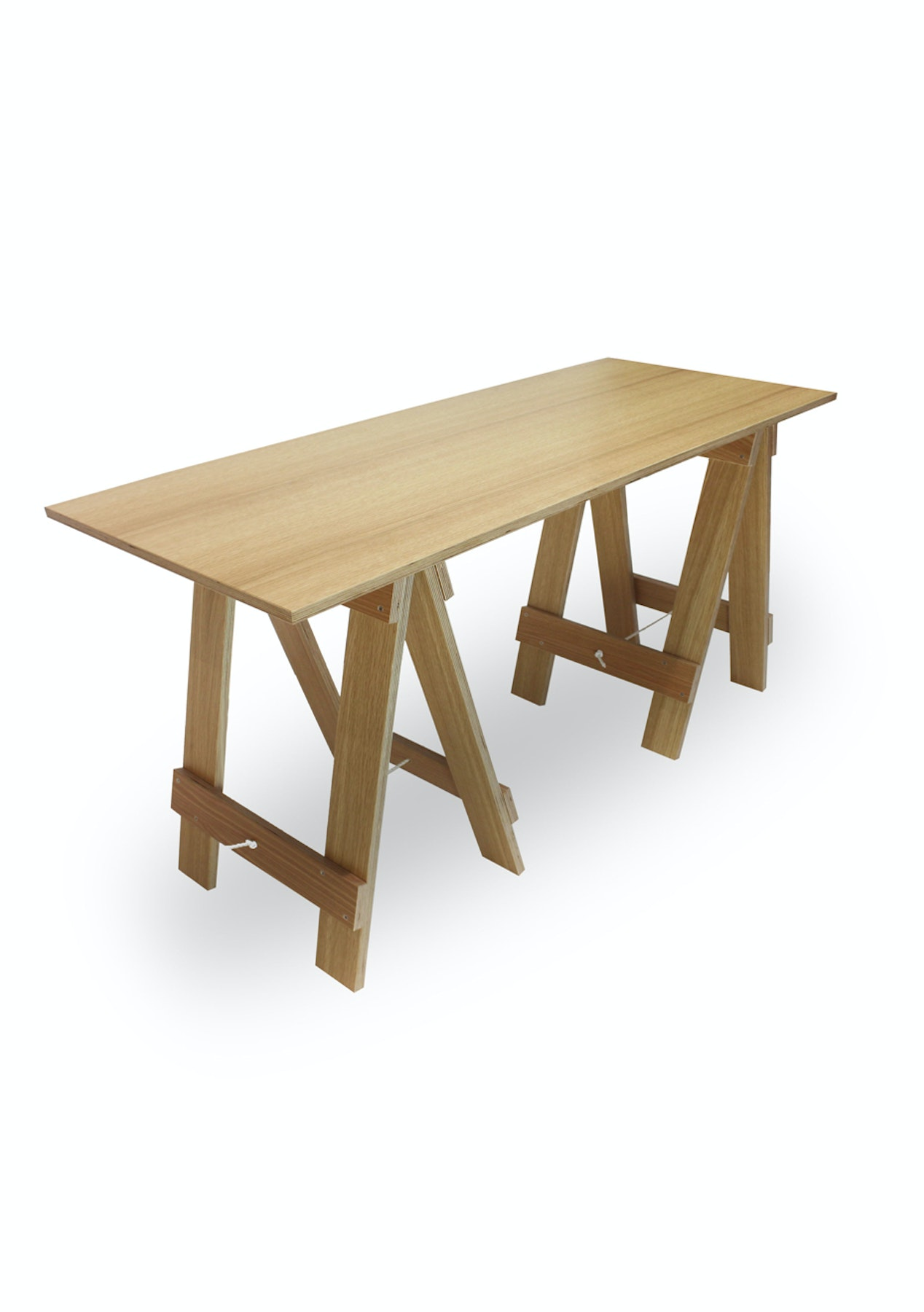 Mood Store  Trestle Desk  Clear Pine