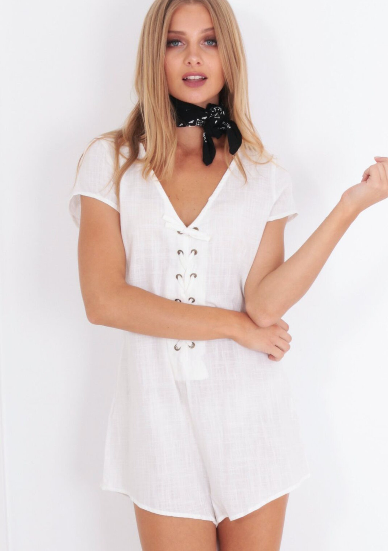 8f3e7e61f9 Reverse - Seven Wonders Playsuit - White - Under  29.95 Lookbook Loves    More - Onceit