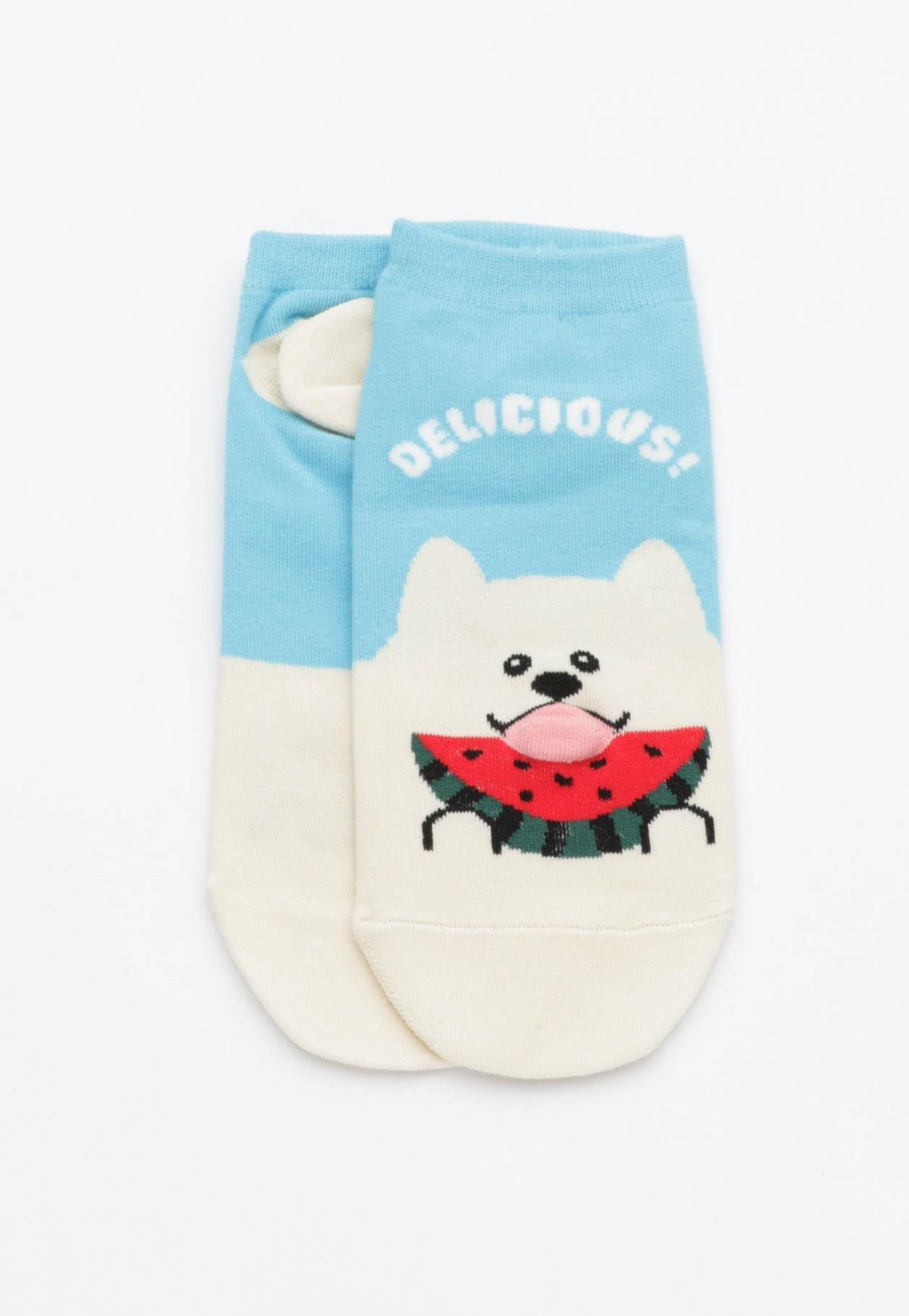 Delicious Watermelon Socks - Blue