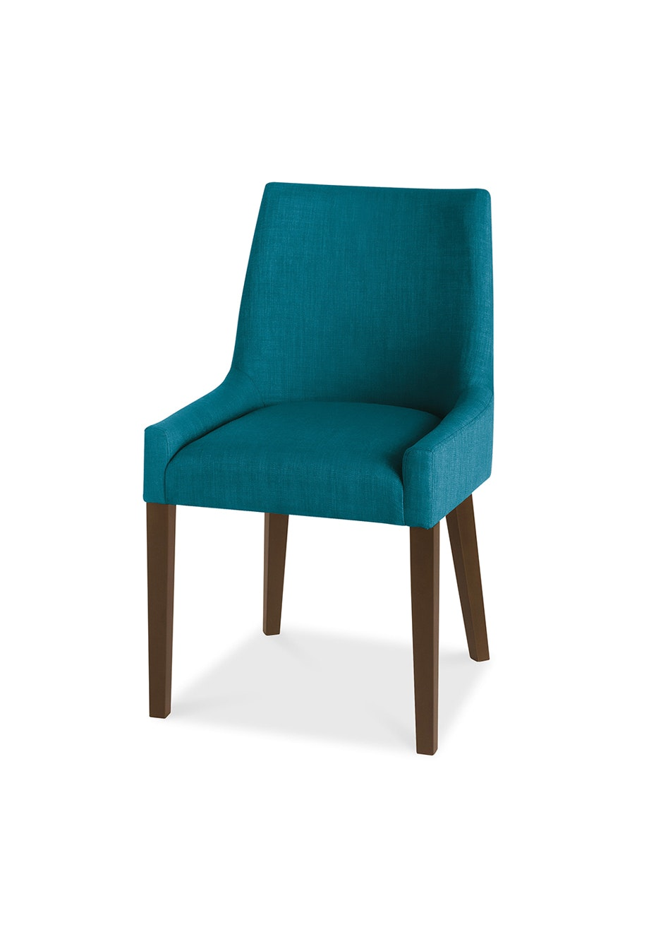 Furniture By Design - Ella Scoop Back Chair- Walnut and Teal
