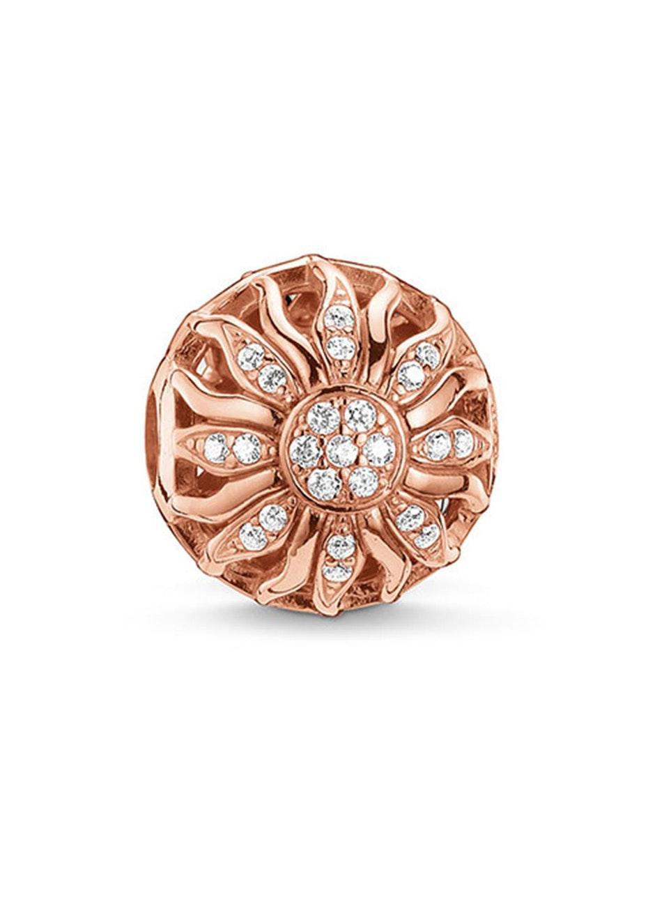 Thomas Sabo  - Karma Bead - Rose Gold Plated Cz Sun