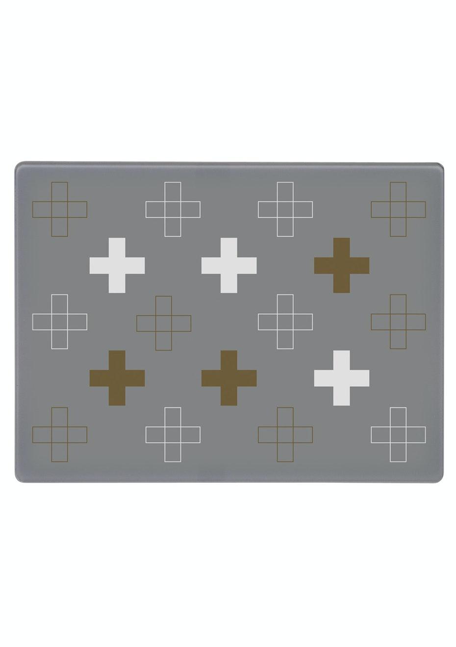 Jason - Glass Serving Platter - Cross