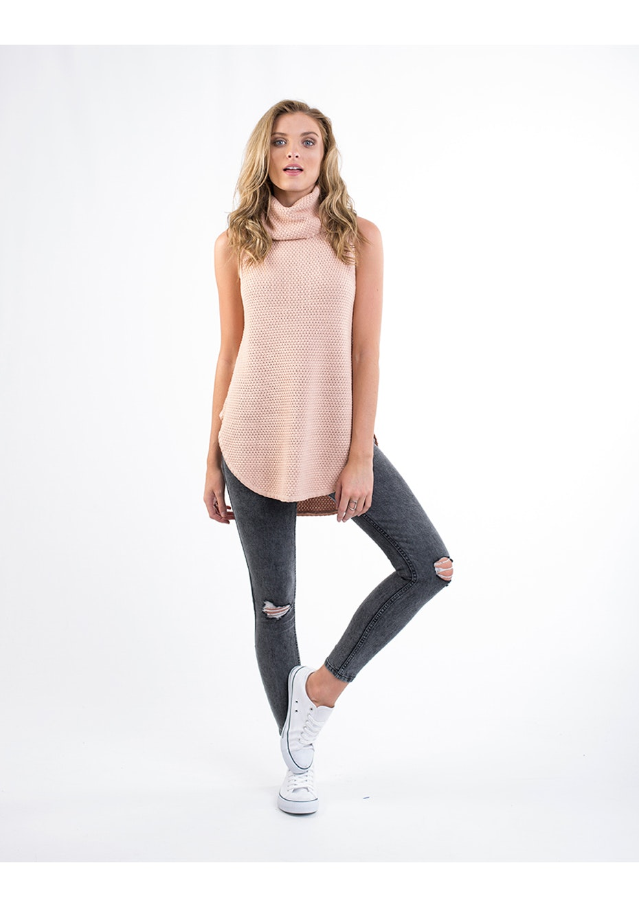 All About Eve - Castro Sleeveless Knit - Blush