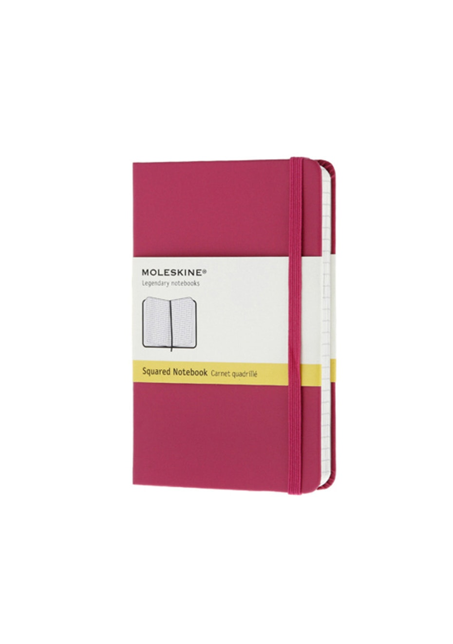 Classic Hard Cover Notebook - Grid Magenta