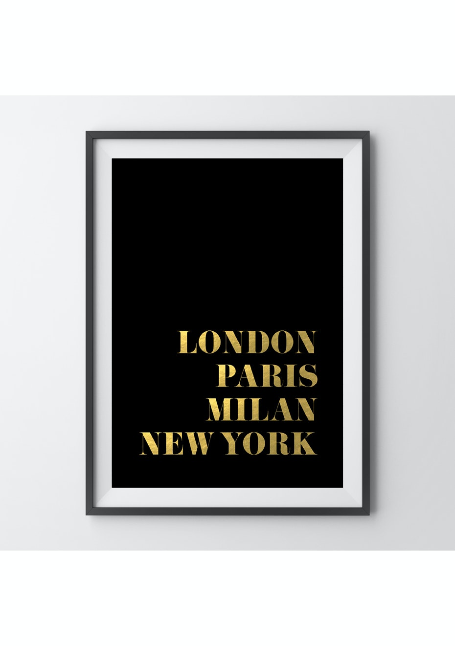 Simply Creative - Gold Fashion Capitals - A4 Gold Foil Print