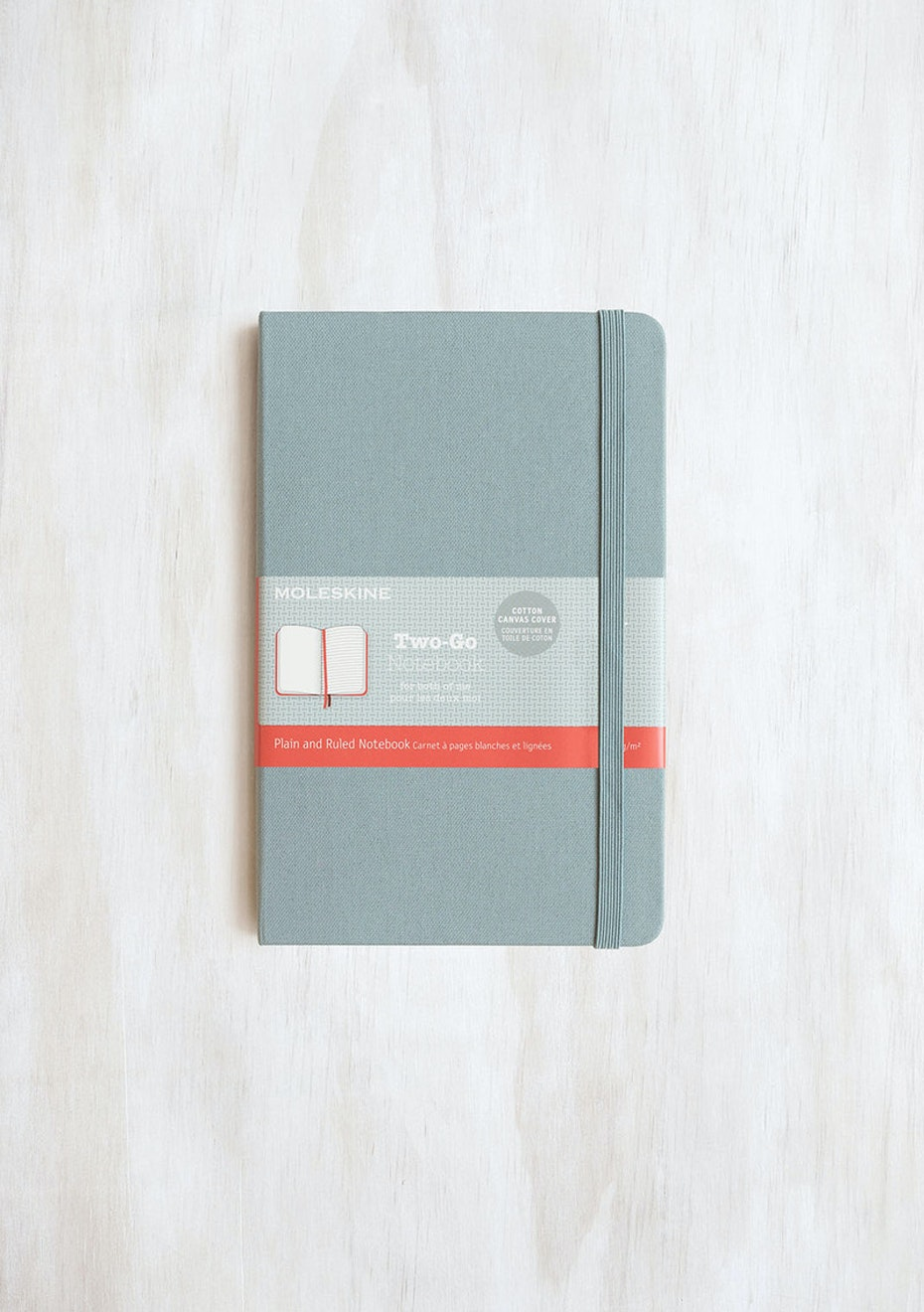Moleskine - Two-Go Notebook - Canvas Cover - Ruled + Plain - Medium