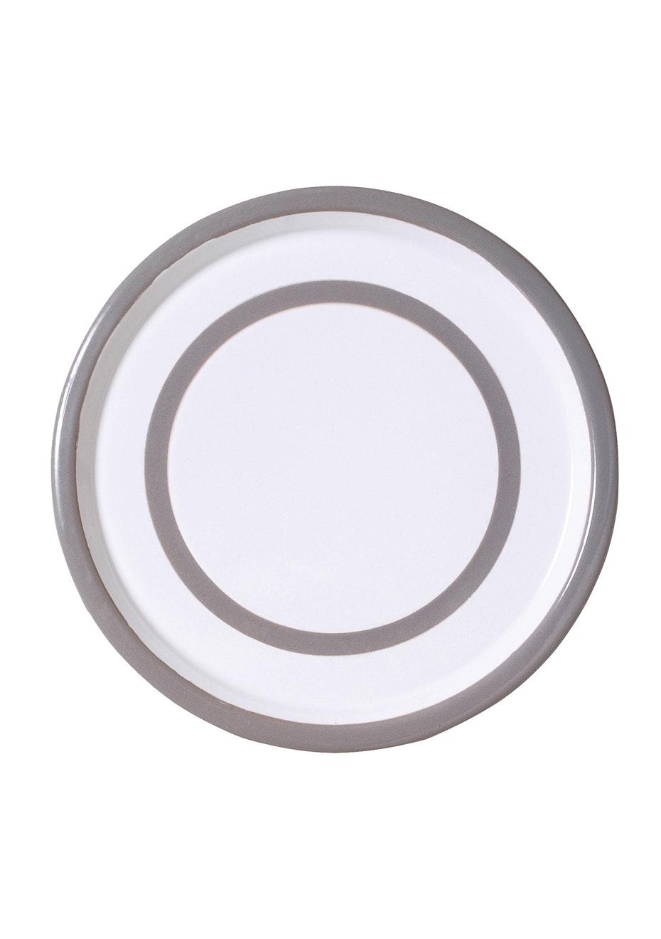 Città - Variopinte Enamel Dinner Plate Pearl Grey 26.5cmdia