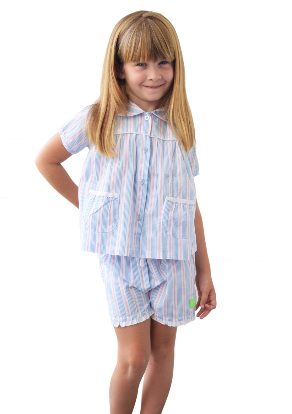 Sant & Able - Hammonds Pink Girl's Playtime Set - Blue & Pink Stripe