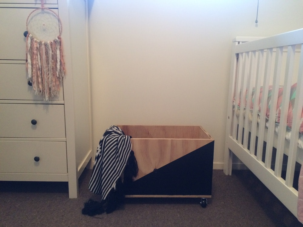Handcrafted Toy Box - Black Out