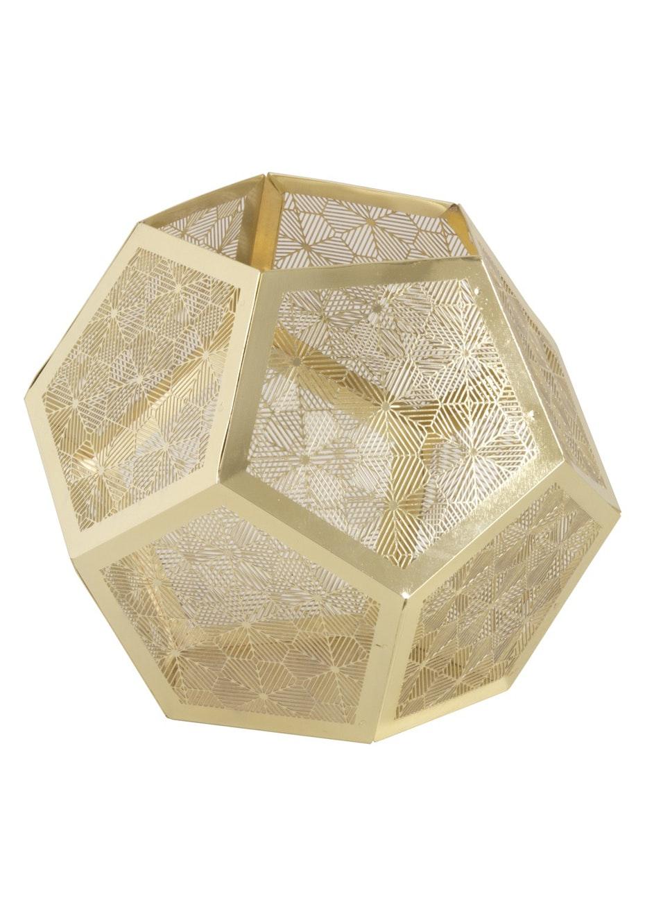 Jason - Geometric candle holder - Gold patterned
