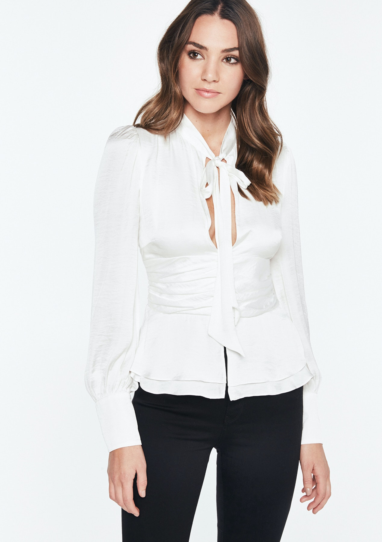 cd9af94883b53e Bardot - Tie Front Top - Ivory - Lioness and More Under  50 - Onceit