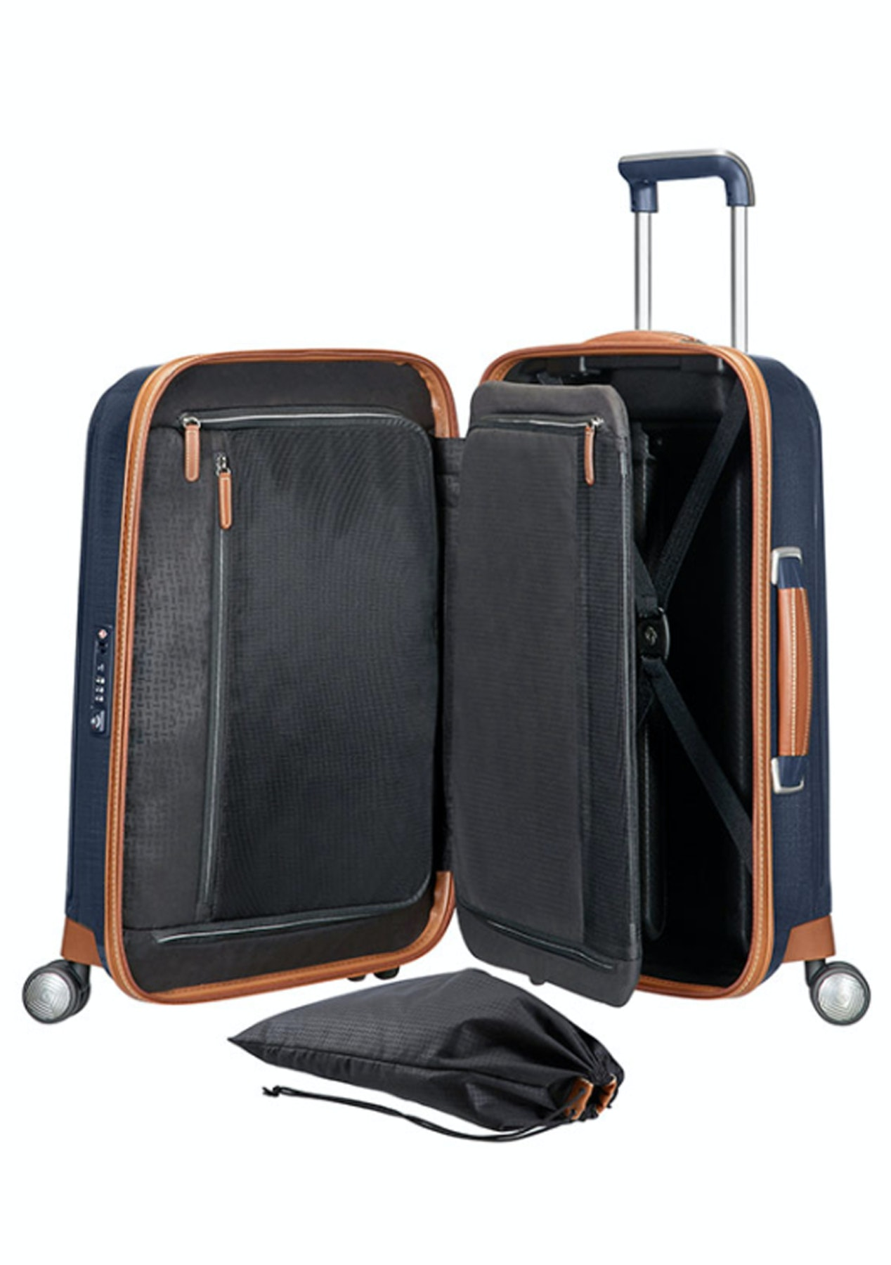 bff8c93527 Samsonite - Lite-Cube Dlx - Spinner 55/20 - Midnight Blue - Samsonite and  Lipault Luggage - Onceit